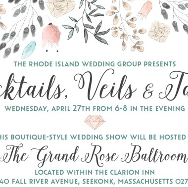 Cocktails, Veils & Tails Wedding Show @ Clarion Inn Seekonk, MA