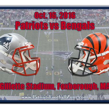 New England Patriots vs. Cincinnati Bengals