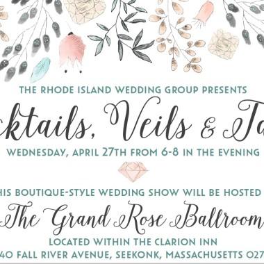 Cocktails, Veils & Tails Wedding Show @ Clarion Inn Seekonk, MA