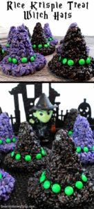 spooky-halloween-dessert-ideas-rice-krispie-treat-witch-hats