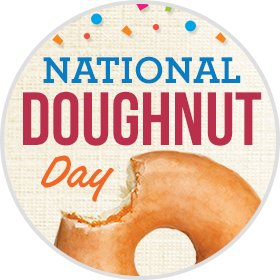 NATIONAL DOUGHNUT (DONUT) DAY IS TODAY!