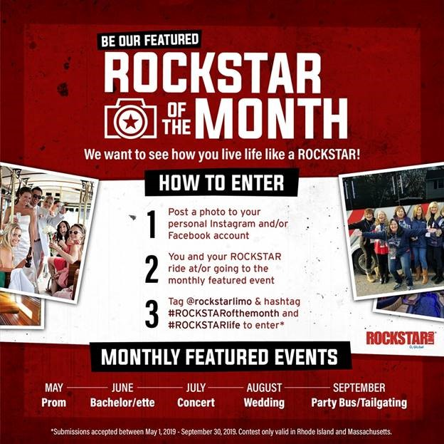 win a free limo - ROCKSTAR of the Month Contest Rules